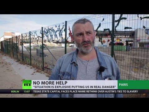 Volunteer group stops food distribution in Paris as fear of violence grows
