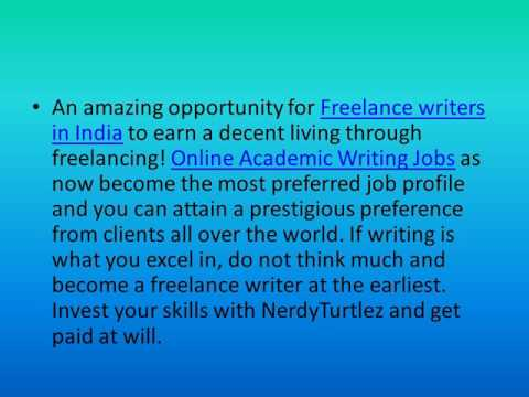 Freelance Academic Writing Jobs Online