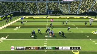"NCAA 14:IN GAME QUITTER-""NCAA FOOTBALL 14"" ONLINE GAMEPLAY-#18 BOISE ST Vs. #6 OREGON"