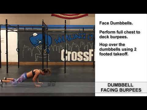How To Do Burpee Over Dumbbells