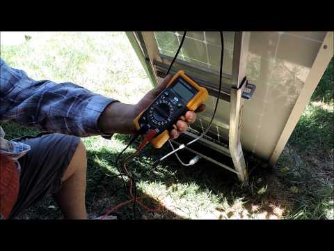 Testing Solar panels and wiring