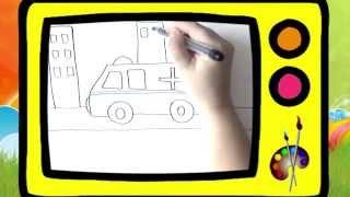 Как нарисовать машину скорой помощи. Оживающие рисунки. Наше_всё!(Учимся рисовать машину скорой помощи. Это очень просто! Развиваем мелкую моторику, воображение, знакомимся..., 2014-12-20T13:00:02.000Z)
