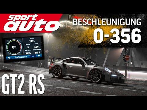 0-356 km/h (221 mph): Porsche 911 GT2 RS (991) meets Autobahn / Topspeed / sport auto