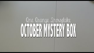 One Orange Snowflake Oct. Mystery Box Unboxing