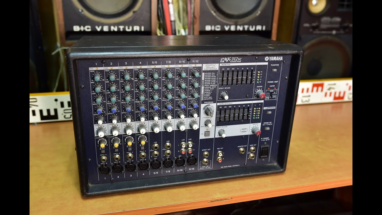 Yamaha emx 312sc powermix mixer amplifier verst rker for Yamaha emx 312sc