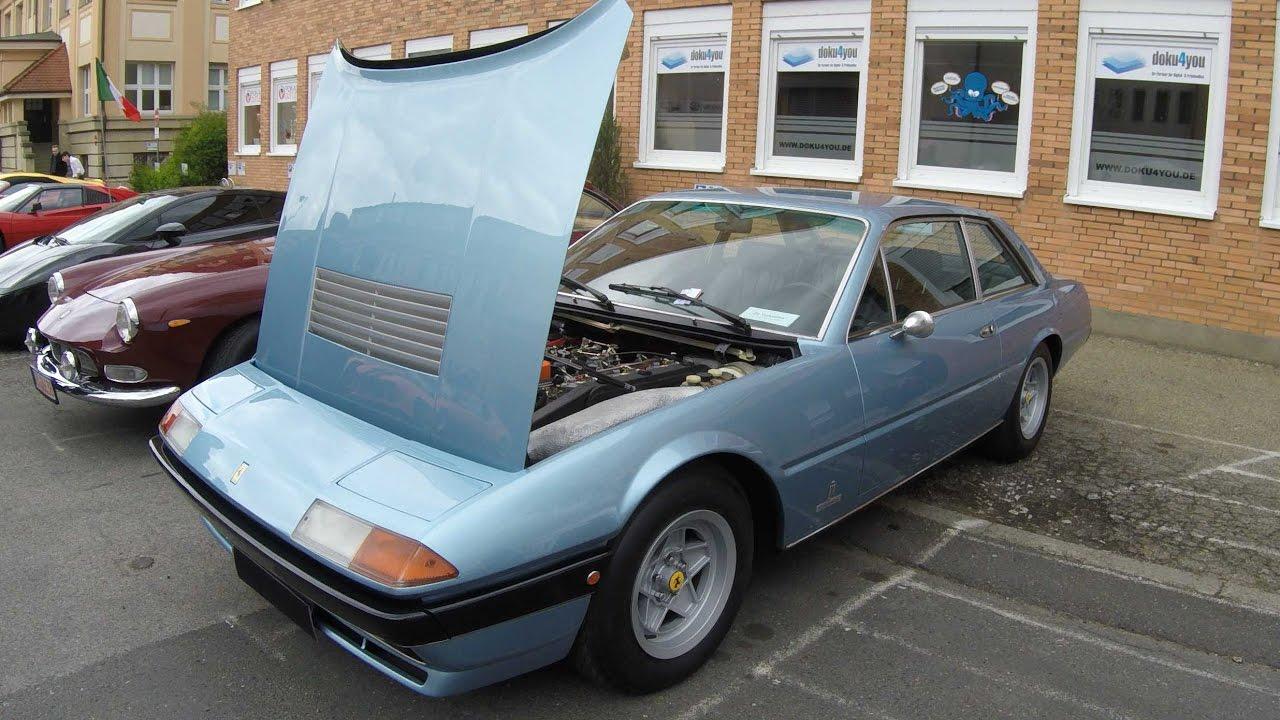 Ferrari 400 Gt 2 2 Coupe 1979 Blue Colour Walkaround Engine Youtube