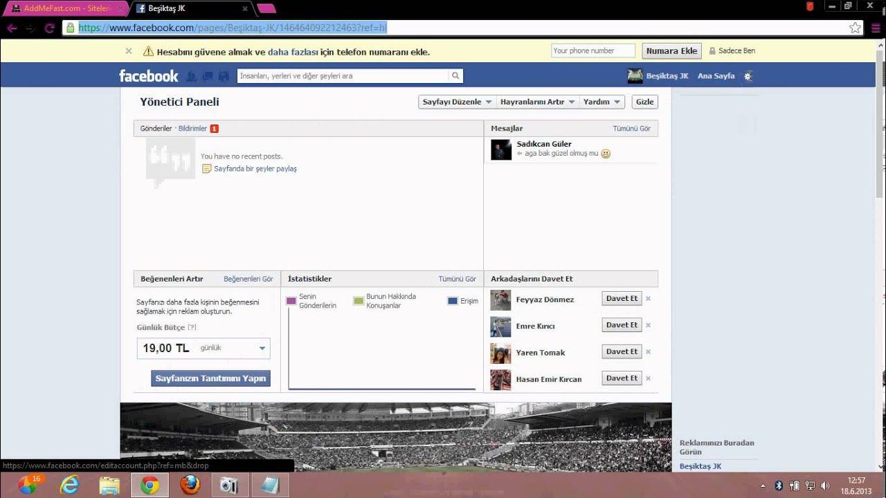 Facebook Durum Foto Sayfa Vb Beğeni Hilesi 18 Haziran 2013