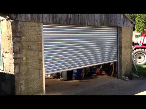 Electric Remote Control Galvanised Steel industrial roller shutter door Operating video
