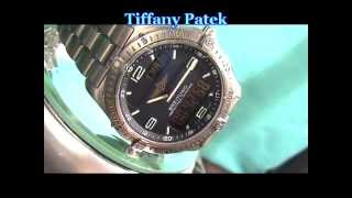BREITLING AEROSPACE REPETITION MINUTES CHRONOGRAPH WRIST WATCH FINE SWISS MOVEMEN TTIFFANY PATEK TIFFANY PATEK