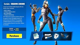 "NEW ""SHADOW LEGENDS PACK"" in Fortnite! NEW SHADOW LEGENDS RELEASE DATE! (Shadow Legends Pack)"