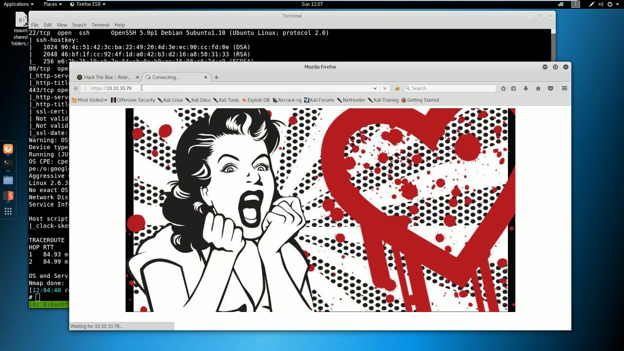 Hack the box CTF Walkthrough - Valentine