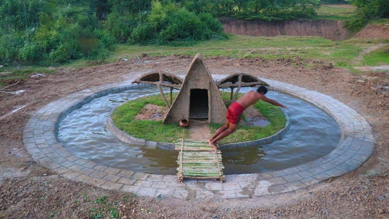 Build Swimming Pool Around Underground House Youtube