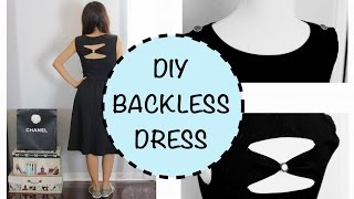 DIY Backless Dress, How to sew an Invisible Stitch, Sewing project for Beginners