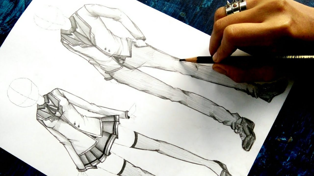 """Download How to draw Anime """"Uniform"""" NO TIMELAPSE for Both Male and Female [Anime Clothing Tutorial]"""