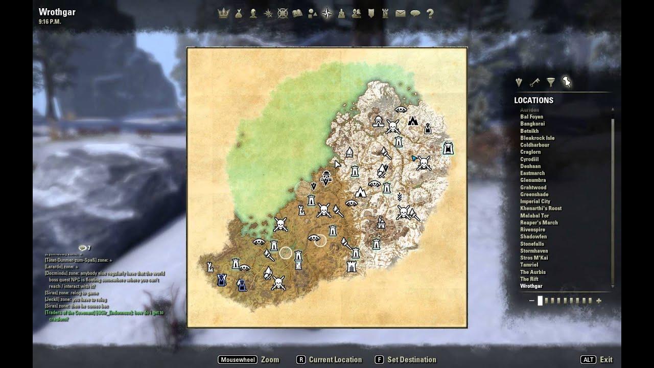 Eso Elder Scrolls Online Clothier Survey Wrothgar Iii Youtube