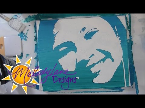 Stencil Painting with Cricut Explore - YouTube