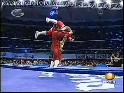 AAA - Octagón vs. Súper Fly vs. Electroshock vs. Nicho, 2009/03/15 [Rey de Reyes semifinal]