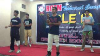 best expressionless dance in HCTM kaithal