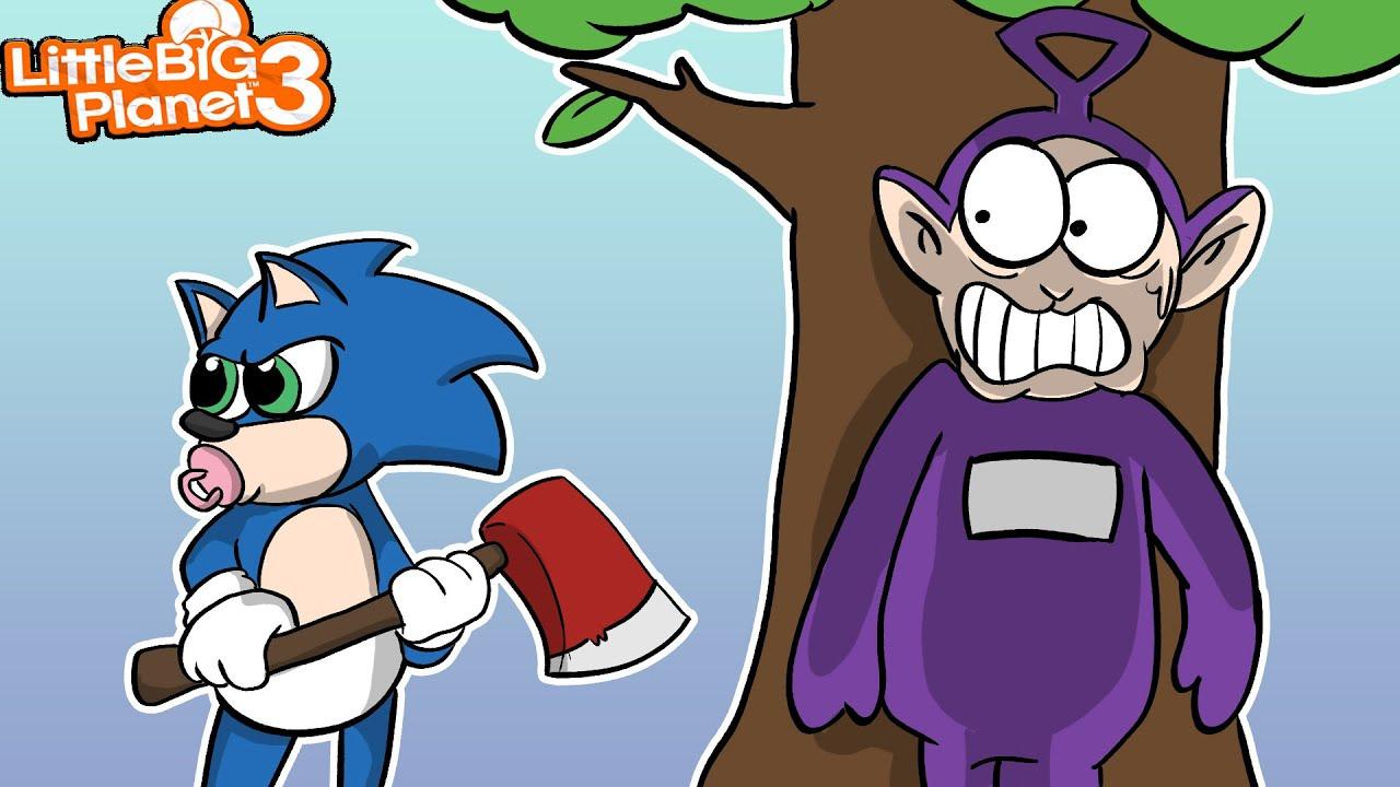 Baby Sonic vs Teletubbies | LittleBigPlanet 3