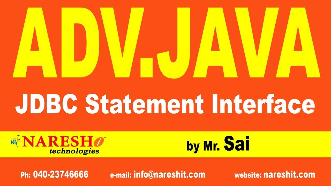 JDBC Statement Interface Part 2   Advanced Java Training