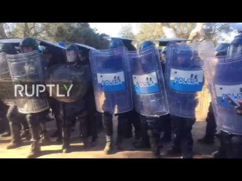 Italy: Protesters rally as workers uproot olive grove to make room for gas pipeline