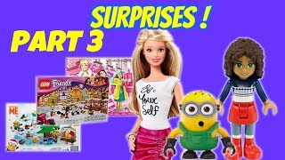 A Surprise Every Day! Minions, Barbie, Lego Friends Holiday Advent Calendar Playsets Part 3