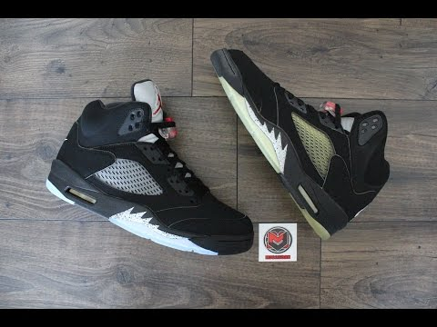 9c7788f096effc Comparison - Air Jordan 5 V Retro Black Metallic Silver (2000 vs 2016)