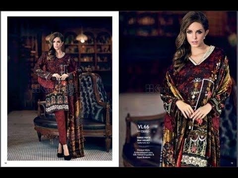 625c9a7f43 Gul Ahmed Winter Linen 2018 Collection With Price - YouTube