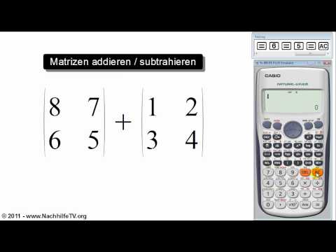 mathe video matrizen addieren subtrahieren mit. Black Bedroom Furniture Sets. Home Design Ideas