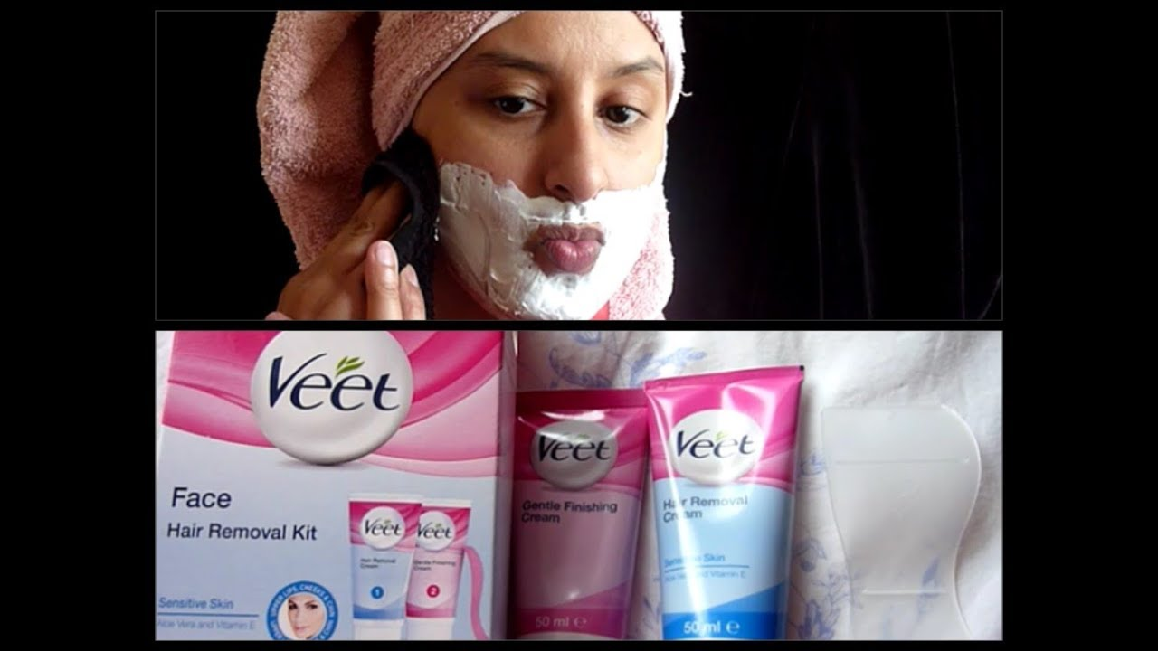 Veet Facial Hair Removal Cream Review Youtube
