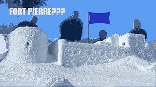 Real Men Build a big ol' Snow Fort