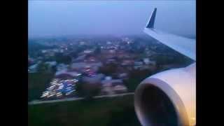Flight Batik Air ID6850 Jakarta to Pekanbaru | Boeing 737-900ER PK-LBM