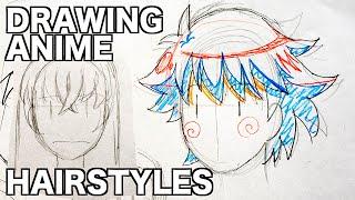 How to draw ANIME HAIR by Veteran Animator HINOE|Japanese manga tutorial|ひのえさんのアニメヘアの描き方講座