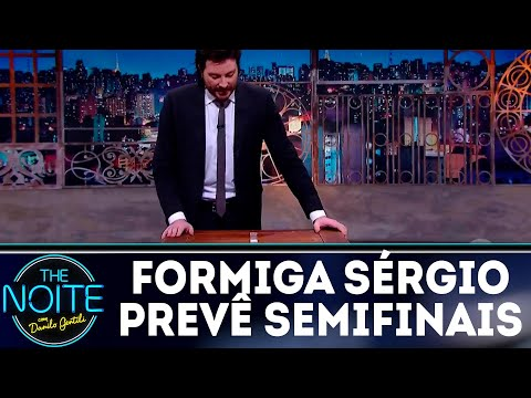 Monólogo: Formiga Sérgio prevê resultados das semifinais do Mundial | The Noite (09/07/18)