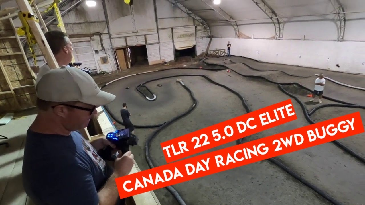 Squealing Tires! TLR 22 5.0 Elite 2WD Buggy Racing CANADA DAY 2020 - Netcruzer RC