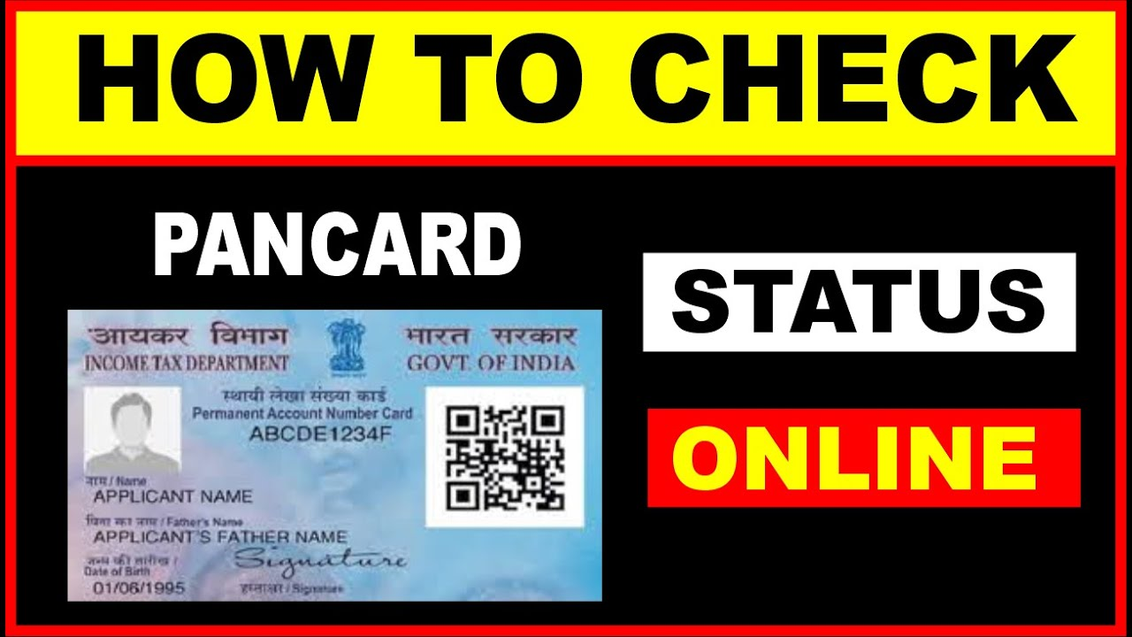 how to check pan card status online  youtube