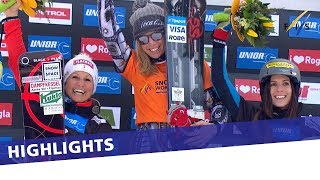 Ester Ledecka takes another victory in Rogla   Highlights