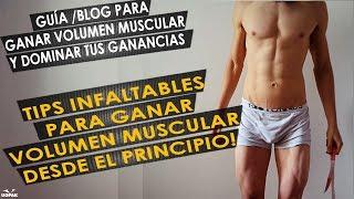 TIPS INFALTABLES PARA GANAR MASA MUSCULAR DESDE EL PRINCIPIO (TIPS PARA EMPEZAR VOLUMEN MUSCULAR)