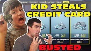 Kid vole carte de crédit des parents pour acheter 10.000 vBucks sur Fortnite! Cassé!!!