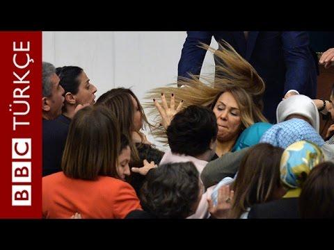 TBMM'de kadın vekiller arasında arbede - BBC TÜRKÇE