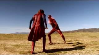 Смешные моменты Флэша в сериале супергёрл(1)