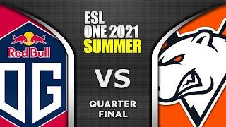 OG vs VP - QUAŔTER FINAL - ESL ONE SUMMER 2021 Dota 2 Highlights