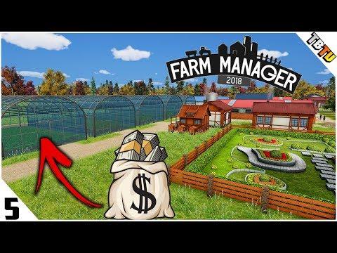 GREENHOUSE TOMATO KINGDOM! New Machinery! Farm Manager 2018 PC Gameplay E5