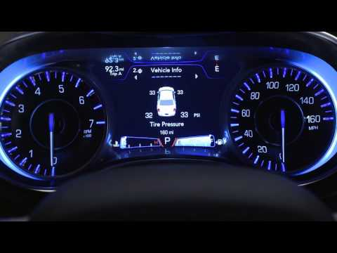 Instrument Cluster Display-Digital Dashboard On The Car Instrument Panel Of 2018 Chrysler 300
