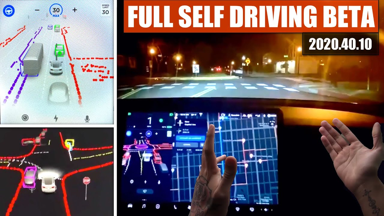 Tesla Full Self Driving BETA Testing 2020.40.10 | Navigating Roundabouts, Intersections & way more!