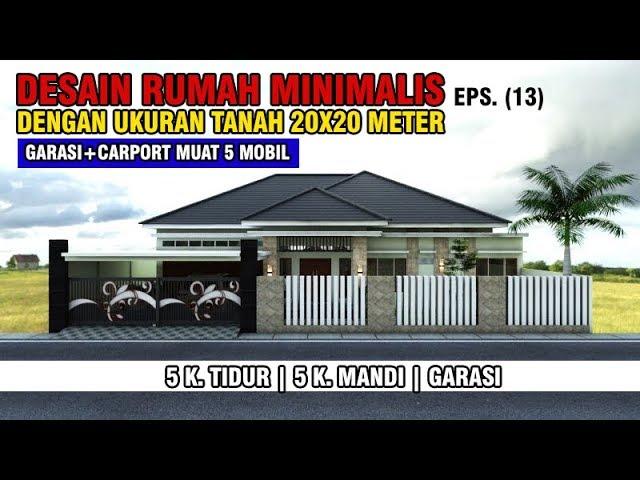 Desain Rumah 20x20 M Dengan 5 Kamar Tidur, 5 Kamar Mandi | Concept Bali Modern | EPS. 013 - YouTube