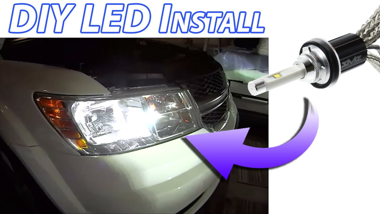 Upgrade Any Car Diy Led Headlight Bulb Install Bright White Safe