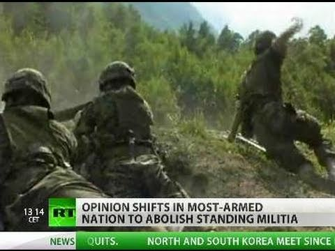 Farewell to Army? Best-armed Swiss shift opinion to abolish militia