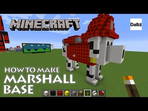Minecraft: How To Build a Paw Patrol Marshall Base