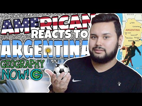 American REACTS // Geography Now! Argentina